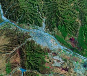 Foto_Imagen_Satelite_Ciudad_San_Salvador_Jujuy_Prov_Jujuy_Argentina